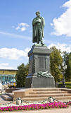 Moscow, monument to Pushkin Royalty Free Stock Photography