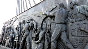 MOSCOW, Monuments Cosmonauts Alley Stock Photo