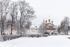 moscow Morgon nära den Novodevichy kloster Royaltyfria Foton