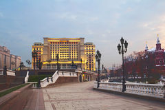 Moscow. Morning at the Manege square. Royalty Free Stock Photography