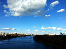 moscow Moskvafloden Royaltyfri Foto