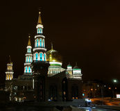Moscow mosque photographed at night Stock Photo