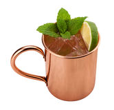 Moscow Mule in a Copper Mug Stock Photos
