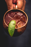 Moscow Mule. With fresh lime and vodka Stock Photography