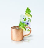 Moscow Mule Mug and Mojito Stock Photo