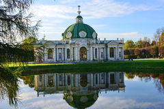 Moscow. Museum-estate Kuskovo. Manor `Kuskovo`, Moscow belonged to the counts Sheremetiev. Pavilion `Grotto` has retained its unique finish from the 18th Stock Image
