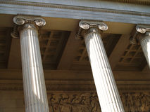 Moscow Museum of Fine Arts portico Royalty Free Stock Photos