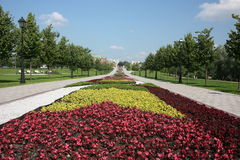 "Moscow. Museum  ""Tsaritsyno"". Flower Alley. Royalty Free Stock Image"