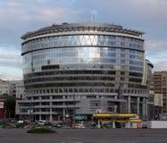 Moscow. New trade center on Olimpijsky prospekt. (Olympic avenue Stock Photo