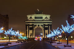 Moscow before the new year Stock Photography