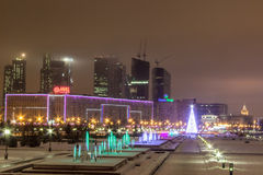 Moscow before the new year Stock Photos