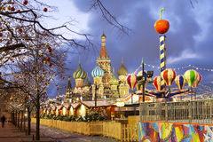 Moscow. New year on red square. Stock Photo