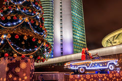 Moscow before the new year Royalty Free Stock Image