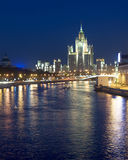 Moscow at night Royalty Free Stock Photos