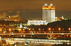 Moscow night Stock Photography