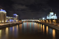 Moscow night cityscape Stock Images