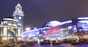 Moscow at night Stock Photography