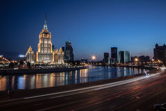 Moscow night. Hotel Ukrain-Radisson Moscow night Stock Photo