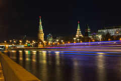 Moscow night lights Stock Photo