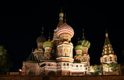 Moscow at night, Russia, Red Square Royalty Free Stock Photos