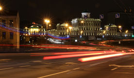 Moscow night scene Stock Photos