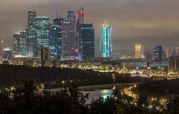 Moscow by night Royalty Free Stock Photo