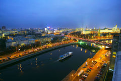 Moscow at night. Royalty Free Stock Photo