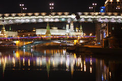 Moscow Night View Royalty Free Stock Photos