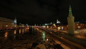 Moscow by night stock video