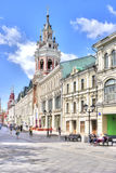 Moscow. Nikolskaya street Royalty Free Stock Photography