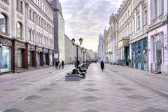 Moscow. Nikolskaya Street Royalty Free Stock Photo