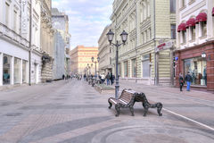 Moscow. Nikolskaya Street Stock Photos