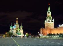moscow noc czerwony Russia kwadrat Obrazy Stock