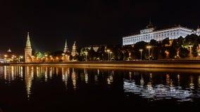 moscow noc Moskwa - rzeka Rosjanów sławni miejsca obraz royalty free