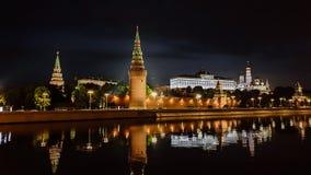 moscow noc Moskwa - rzeka Rosjanów sławni miejsca obrazy stock