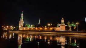 moscow noc Moskwa - rzeka Rosjanów sławni miejsca zdjęcie stock