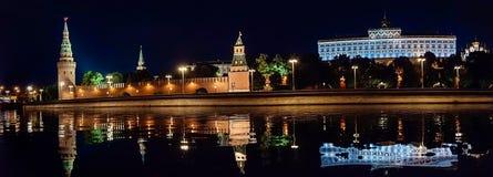 moscow noc Moskwa - rzeka Rosjanów sławni miejsca zdjęcia royalty free