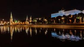 moscow noc Moskwa - rzeka Rosjanów sławni miejsca obrazy royalty free