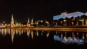 moscow noc Moskwa - rzeka Rosjanów sławni miejsca obraz stock