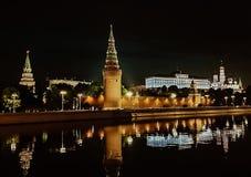 moscow noc Moskwa - rzeka Rosjanów sławni miejsca zdjęcie royalty free
