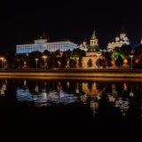 moscow noc Moskwa - rzeka Rosjanów sławni miejsca fotografia stock