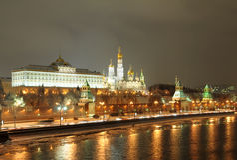 moscow noc Russia Zdjęcie Stock