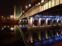 moscow noc rzeka Zdjęcie Royalty Free