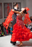 Dance Couple in motion on charitable show Royalty Free Stock Photo