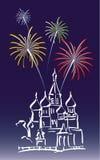 moscow nytt år Arkivbilder