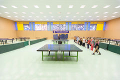 Childrens competition ping pong Stock Photo
