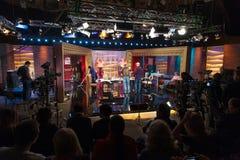 Shooting TV comedy show ProjectorParisHilton Stock Image