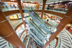 Escalator and  floors in a shopping mall Royalty Free Stock Photography