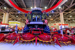 MOSCOW - OCTOBER 05, 2016: Harvester at Agrosalon Stock Photo