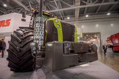 MOSCOW - OCTOBER 05, 2016: Tractor at Agrosalon Stock Photos